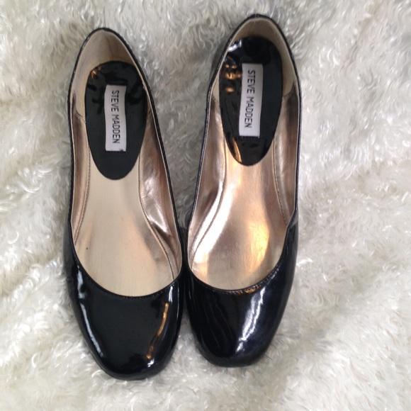 Black Patent Ballet Flats Pralli